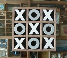 30cm Vintage Style Wooden Timber Tic Tac Toe Noughts and Crosses Game