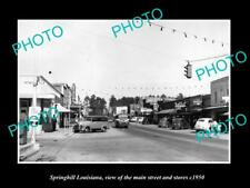 OLD LARGE HISTORIC PHOTO OF SPRINGHILL LOUISIANA, THE MAIN ST & STORES c1950 3