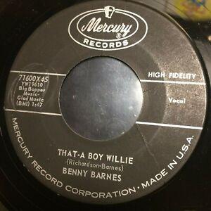 HEAR 1960 HILLBILLY - BENNY BARNES - THAT-A BOY WILLIE - MERCURY 45 (BIG BOPPER