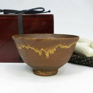 D0900: Korean IRABO-CHAWAN tea bowl of Joseon Dynasty with appropriate texture.