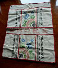Antique Vintage Flour Sack Embroidered Shoe Wall Hanger 1930s