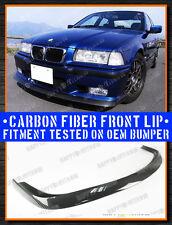 92-98 CARBON FIBER BMW E36 M3 COUPE & SEDAN AC TYPE FRONT LIP SPLITTER