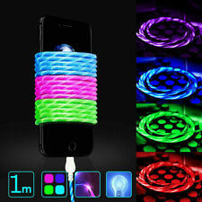 Genuine Quality LED Lighting Flow Charger Cable USB Glow For iPhone 6 7 8 XS 1M