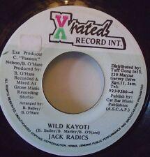 """JACK RADICS - Wild Kayoti ~ 7"""" Single JA PRESS"""