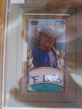 2003 TOPPS 205 FELIZ PIE MINI ON CARD AUTOGRAPH