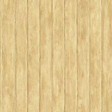 Light Brown Untextured Faux Beadboard Sure Strip Wallpaper YC3410