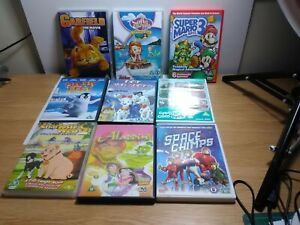 BUNDLE OF 9 PRE-OWNED- CHILDRENS DVDs-U-RATING-FAMILY FUN-FREE P&P