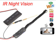 WIFI Spy Nanny Cam IR Night Vision Pinhole DIY Video IP Camera Mini DV Micro DVR