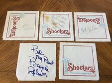 Lot of 4- MLB signatures HOFers all on Shooters Waterfront Cafe Napkins See Pics