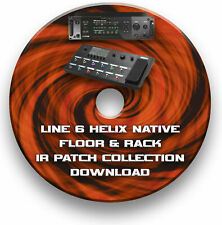 80,000+ IR IMPULSE RESPONSE PATCHES CD - LINE 6 HELIX LT NATIVE FLOOR & RACK