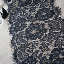3M Eyelash Lace Edge Trim Ribbon Wedding Embroidered Applique Sewing Wide 28cm