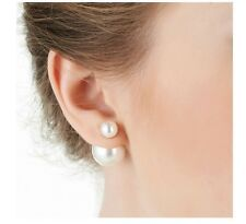 zaras new pearl white and silver plated earring 10 pack