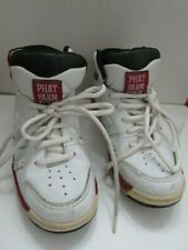 PHAT FARM TRAINERS (PF 92) 'BRONSON XL STYLE', RED/WHITE LEATHER. UK 6, VTG  VGC