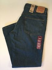 Levis 505 Jeans 38x30 Regular Fit Medium Wash Distressed Rinse Regular Fit NWT