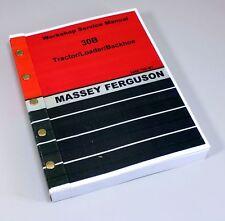 MASSEY FERGUSON MF 30B TRACTOR LOADER BACKHOE SERVICE REPAIR MANUAL SHOP BOOK