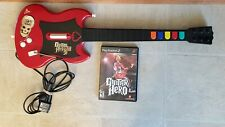 Guitar Hero PS2 Game and Guitar Controller Red RedOctane Wired Tested Works