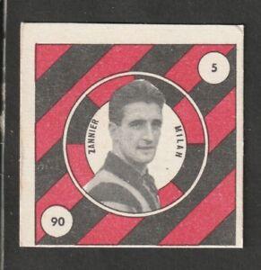 FIGURINA CALCIATORI ALBUM VAV 1957-58 MILAN ZANNIER MAI ATTACCATA