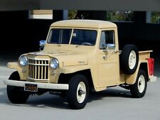 1953 Willys 4-75 Pickup 1 Ton 4Wd Jeep with Chevy V8 Calif Truck