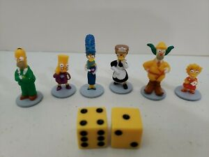 THE SIMPSONS Clue Game Replacement Pieces People Marge Homer Bart Board Game