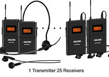 ANLEON MTG-100 tour guides and translations 25 Receivers  902-927MHZ