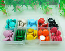 1 Box Mix Round imitation leather covered Flatbacks Buttons DIY Crafts 15mm