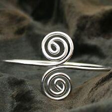 Armreif Oberarmreif Doppel Spirale Bollywood Armreifen Goa Hippie Silber 3
