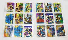 1992 Lot of 18 X-Men Prism Foil Vending Machine Trading Card Stickers Complete