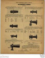 1922 PAPER AD Klaxon Car Auto Automobile Hoen Horns Hand Crank Stewart Racine