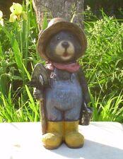 Concrete / Cement Statue Mold Papa Bear With Shovle Latex Rubber / Fiberglass