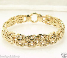 "8"" Bold Byzantine Bracelet with Senora Clasp REAL 18K Yellow Gold 17.8 grams"