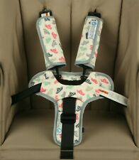 Keep Me Cosy® Harness Covers + Buckle Cosy* for Prams, Strollers - Paper Boat
