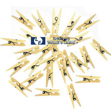 New 50PCS Mini Wood Photo Paper Clothespins Wooden Laundry Clothes Pins Crafts