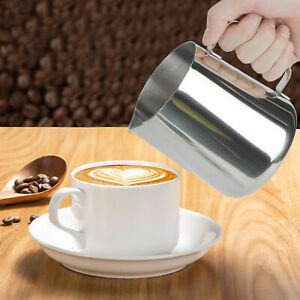 600-2000ml Stainless Steel Milk Jug Frothing Frother Coffee Latte Pitcher Cups