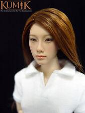 "KUMIK 1/6 KM008 Female Head sculpt /wig Fit 12""Women Action Figure Body Doll Toy"