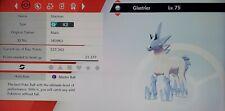 Glastrier With Masterball 100% Legit Pokémon Sword And Shield