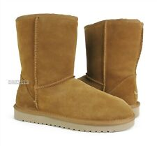 Koolaburra by UGG Koola Short Chestnut Suede Fur Boots Womens Size 9 *NIB*