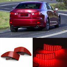 2x LED Rear Bumper Reflector Driving Brake Light for Lexus IS250 IS350 2006-2013