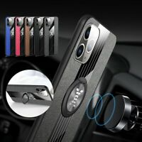 Magnetic Car Ring Holder Stand Cloth Back Case Cover For iPhone 7/8 11 Pro Max
