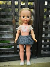 """VTG RARE MEXICAN WALKER DOLL 17 1/2"""" RUBBER HEAD & ARMS HANDMADE OUTFIT UNMARKED"""