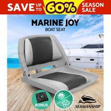 Seamanship Folding Boat Seats Seat Marine Seating Set All Weather Swivels Grey