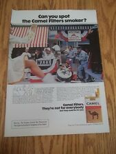 1973 VINTAGE PRINT AD CAMEL CIGARETTES CAN YOU SPOT THE CAMEL SMOKER? PARADE