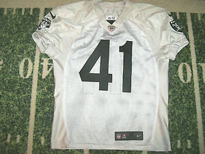 VTG Nike Oakland Raiders Used Worn Practice Game Football Jersey FB Keith Smith?
