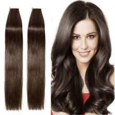Undetectable Tape In 100% Remy Real Human Hair Extensions Tangle Free Dye P556