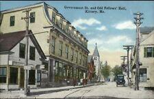 Kittery ME Gov't St. & Odd Fellows Hall c19190 Postcard