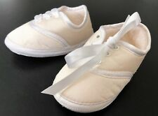 "Amacello Silk Christening Shoe Size 3 4.5/"" 6-9m"