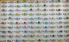 Wholesale Lots 50pcs Mixed Color Various Small Cute Cat's-eye Stone Lady's Rings