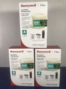 """Honeywell Wicking Humidifier Filter A Model HAC504V1 3 Pack """"New"""""""