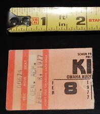 KISS Rock And Roll Over Tour Omaha Nebraska Concert Feb 1977 Ticket Stub Aucoin
