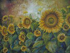 "ORIGINAL ""Sunflowers"" Oil Painting Original Art  , ARTZ-D"