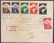 Suriname nr 151/156 op aangetekende brief naar Nederland